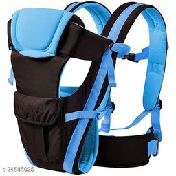 Airpark 4-in-1 Adjustable Baby Carrier Cum Kangaroo Bag/Honeycomb Texture Baby Carry Sling/Back/Front Carrier for Baby with Safety Belt and Buckle Straps (Sky Blue)