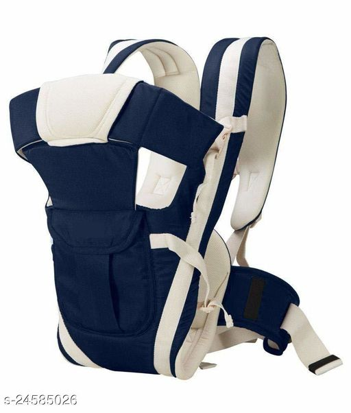 Airpark 4-in-1 Adjustable Baby Carrier Cum Kangaroo Bag/Honeycomb Texture Baby Carry Sling/Back/Front Carrier for Baby with Safety Belt and Buckle Straps (Navy Blue)