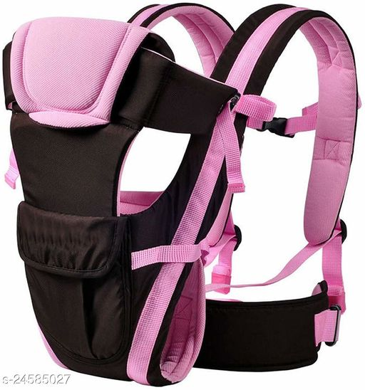 Airpark 4-in-1 Adjustable Baby Carrier Cum Kangaroo Bag/Honeycomb Texture Baby Carry Sling/Back/Front Carrier for Baby with Safety Belt and Buckle Straps ( Pink)