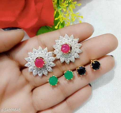 Beautiful & Fashionable Changeable Surajmukhi Stud