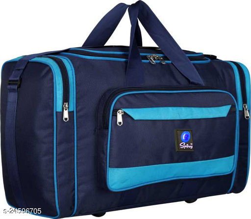 Trendy Men's Multicolor Nylon Duffel Bags