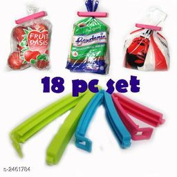 Bag Sealing Clips With 3 Different Sizes(Pack Of 18)
