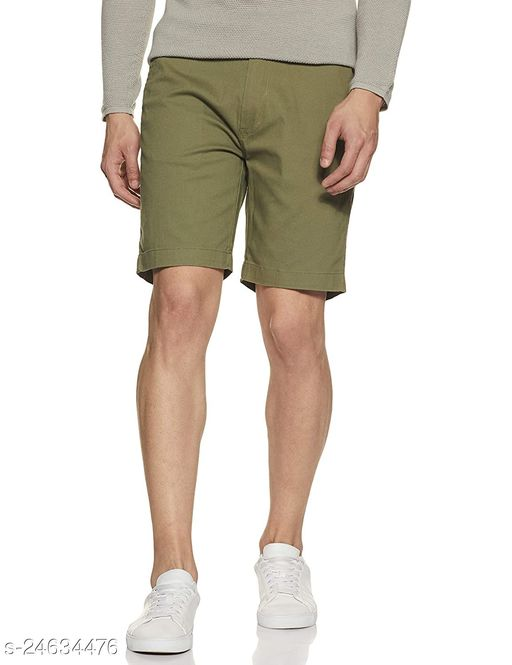Style and you pure cotton Shorts for Men (Green)