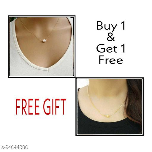 Elite 2Gram Gold Plated Fance Womens Necklace chain Combo