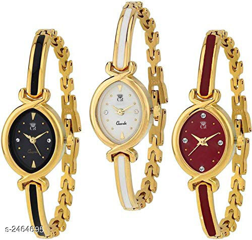 Attractive Analog Watches  (Pack Of 3 )
