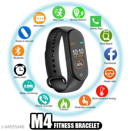 M4 C Bluetooth Smart Fitness Band Watch for Men/Women