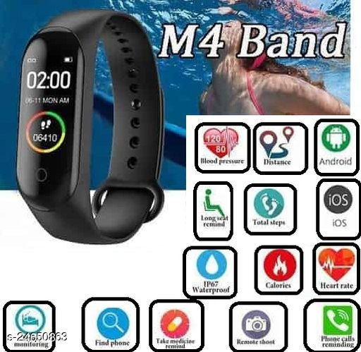 M4 Smart Fitness Band Activity Tracker with Heart Rate Sensor for Androids