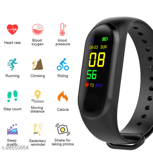 M3 Smart Fitness Band Activity Tracker with Heart Rate Sensor for Androids