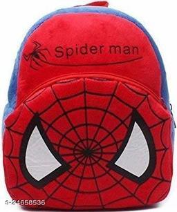 HHG Spiderman Soft Velvet Kids School/Nursery/Picnic/Carry/Travelling Bag - 2 to 5 Age Waterproof Backpack (Multi, 18 L)