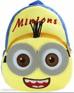 HHG Minions Soft Velvet Kids School/Nursery/Picnic/Carry/Travelling Bag - 2 to 5 Age Waterproof Backpack (Multi, 18 L)