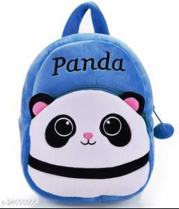 HHG Panda Soft Velvet Kids School/Nursery/Picnic/Carry/Travelling Bag - 2 to 5 Age Waterproof Backpack (Multicolor, 14 L)