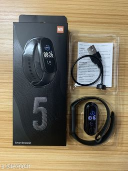 M5 Smart Band For All Smart Anroid Phones (Black)