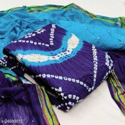 Trendy Bandhani Cotton Suit