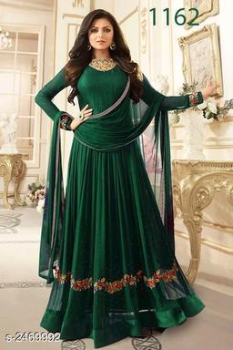 Elegant Faux Georgette Women's Suit & Dress Material