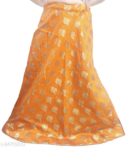 PU Fashion Designer partywear Lehenga with jari work, Orange Colour