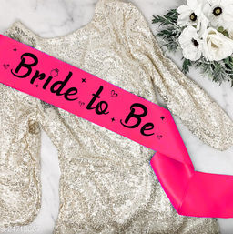 """Style Secrets Premium Quality 3.7"""" Magenta Satin Bride to Be Sash for Beautiful Girls for Ring Ceremony, Pre-Wedding, PhotoShoot"""
