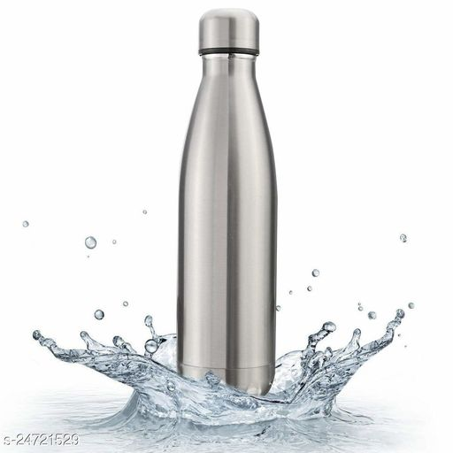 Tornado 24 Hours Hot and Cold Water Bottle, 1000 ml, 1 Piece (Silver)