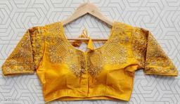 Trendy Silk  ready to wear alterable designer party wear wedding wear stiched blouse