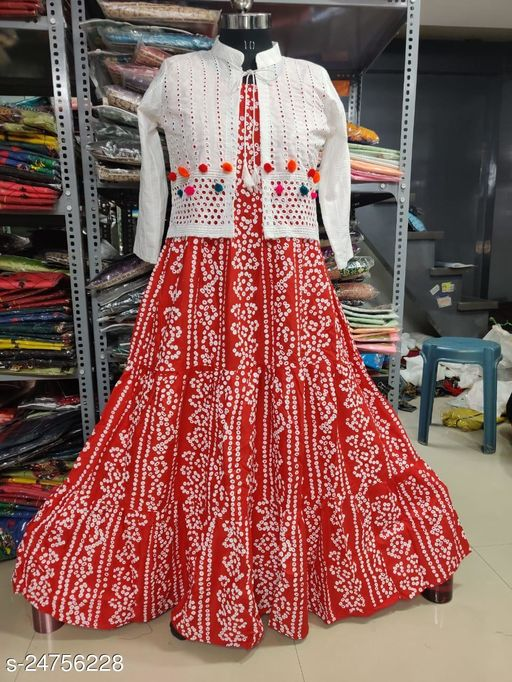 stylish gown with fency style koti