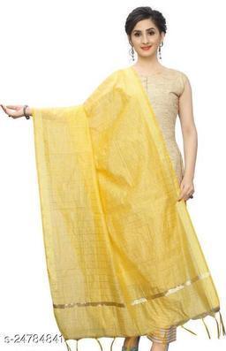 chanderi yellow Dupatta