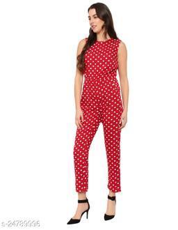 Menasu Women's Floral and Polka Dot Printed Maxi Jumpsuit