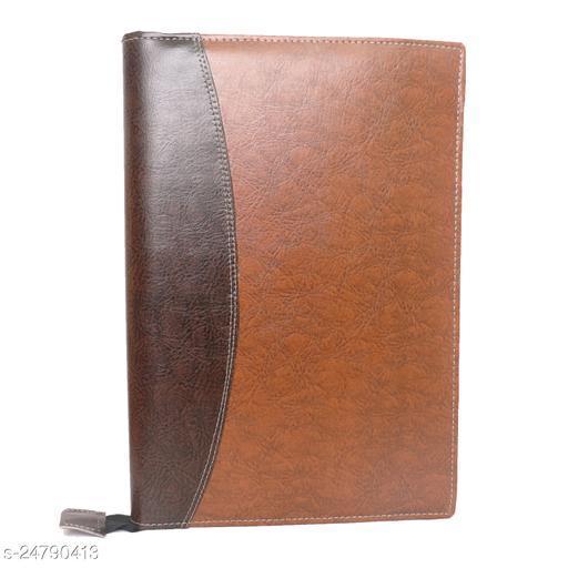 Premium PU Leather High Quality 20 leefs fs Size File Folder office Document File and Folder Set of 1