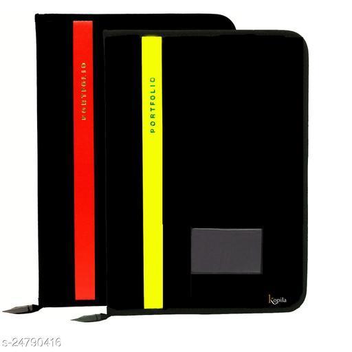 PU Leather 20 leefs fs Size File Folder office Document File and Folder Set of 2
