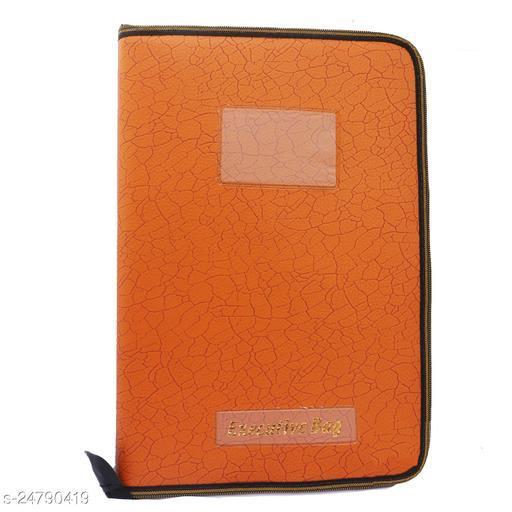 High Quality Leather Snake Skin Style Premium File & Folder Set of 1