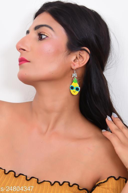 Pineapple Beach Vacation Dangling Earrings