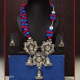Women's Oxidised Silver Jewellery Set