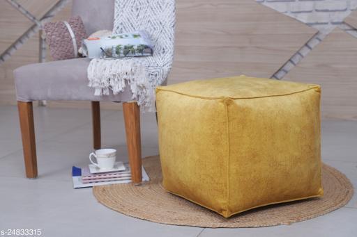 sheen décor velvet pouffe (17 x 17 x 17 ) inch