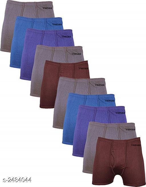 Stylish Men's Cotton Solid Briefs Combo