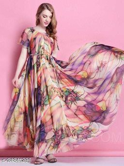 Awesome Digital Printed Maxi Gown