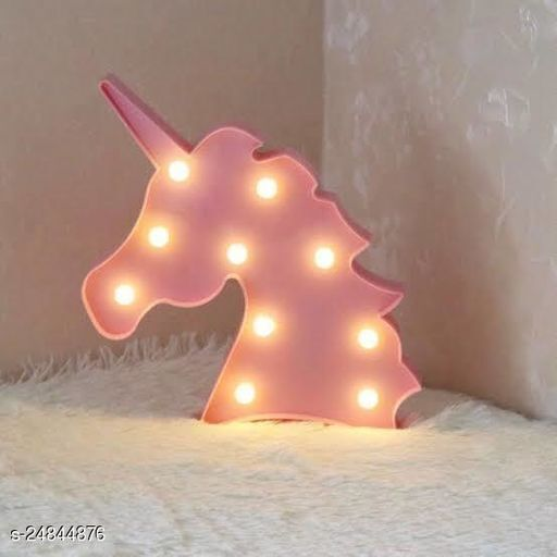 Unicorn Shaped LED Marquee Lights LED Light Up Sign for Night Light Wedding Birthday Party Battery Powered Christmas Lamp Home Bar Decoration pink (Party Monkey)