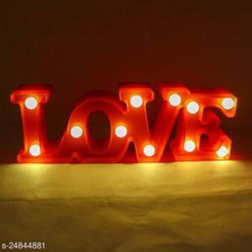 Love LED Marquee Night Light Sign Baby Light Battery Operated Nursery Lamp gift valentines gifting pre wedding shoot set up engagement White (Party Monkey)