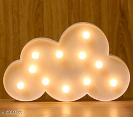 LED Cloud Night Marquee Light Sign Baby Light Battery Operated Nursery Lamp gift Home Décor lamp wedding shoot photo booth White (Party Monkey)