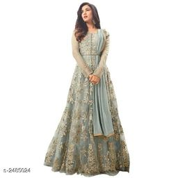 Ravishing Net Embroidered Suits & Dress Material