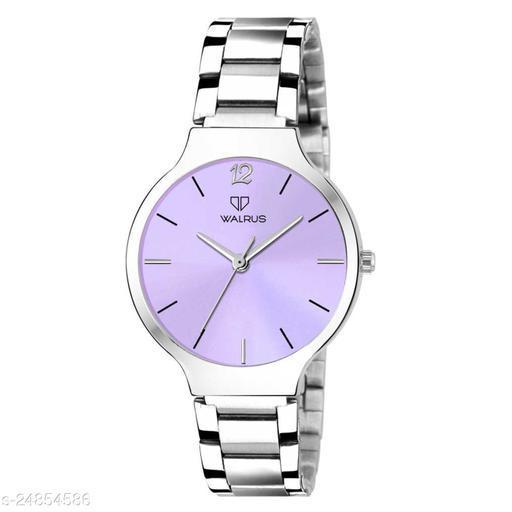 Walrus Alice IX Series Purple Dial Metallic Women Wristwatch