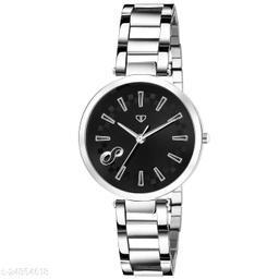 Walrus Alice VII Series Black Dial Metallic Women Wristwatch