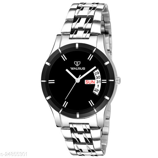Walrus Colors III Series Black Dial Women Wristwatch With Day & Date Function
