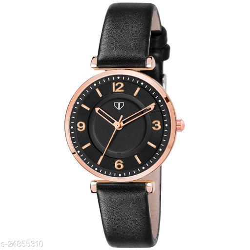 Walrus Venice V Series Black Dial Women Wristwatch