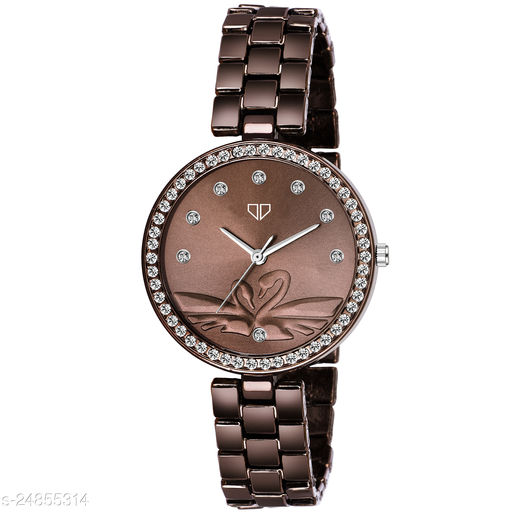 Walrus Victoria III Series Brown Dial Women Wristwatch