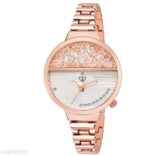 Walrus Victoria VI Series Rose Gold Dial Women Wristwatch