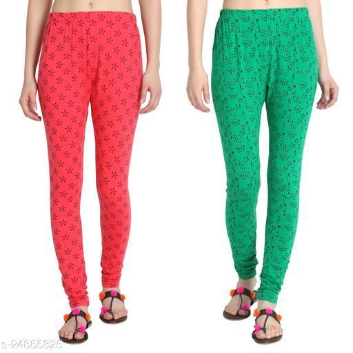 Fasha Cotton Churidaar legging for women and Girls pack of 2