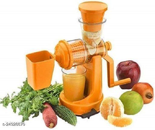 Fruit And Vegetable Mixer Juicer And Manual Hand Press Stainless Steel Handle Juicer 0 Juicer Mixer Grinder (2 Jar, Orange)