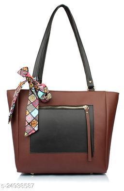 Attractive Women's Brown PU Handbag