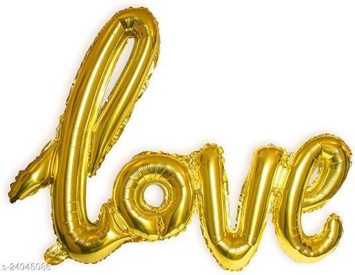 """Style Secrets Gold Cursive Love 16"""" Foil Balloons Pack"""