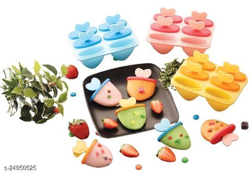 Newvent 6 Cavity Plastic Kulfi Mould, Home Maker Kulfi Candy Mould, Blueberry Ice Candy Tray (Pack of 1, Color: Multicolor)