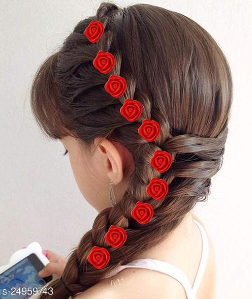 Trendy Women's Multicolor Floral Hair Accessories