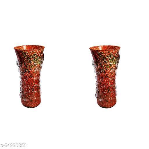 Stylish Home Decorative Glass Flower pot/Vase, Set Of Two-WE18